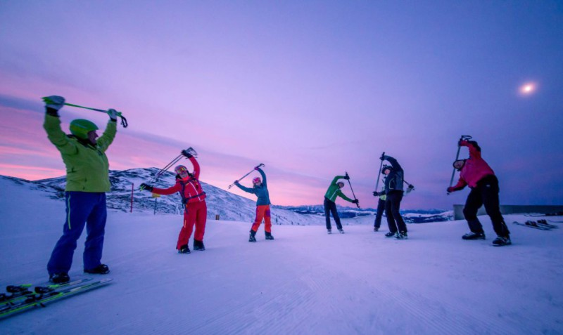 Warm-up and Stretching Exercises before and after Skiing